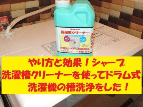 洗濯槽クリーナー ドラム式洗濯機 槽洗浄 シャープ